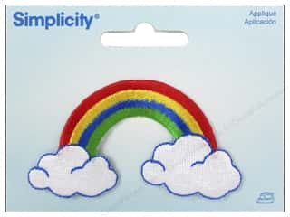 Simplicity Applique Iron On Rainbow/Clouds