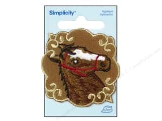 Simplicity Applique Iron On Horse Patchett Brown