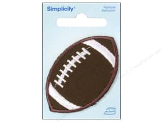 Simplicity Applique Iron On Small Football Brown