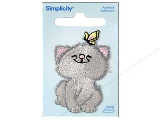 Simplicity Applique Iron On Cat With Butterfly