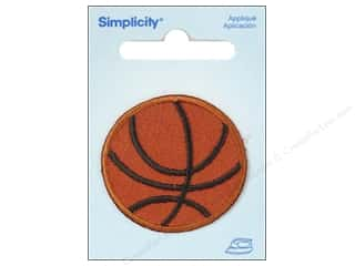 Simplicity Applique Iron On Small Basketball Orange