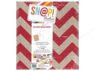 Simple Stories: Simple Stories SN@P! Burlap Binder  6 x 8 in. Red