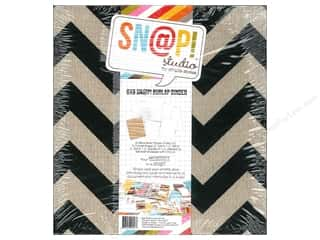 Simple Stories: Simple Stories SN@P! Burlap Binder  6 x 8 in. Black