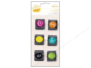 Magnet/Magnetic Tools: American Crafts Binder Clips 6 pc. Amy Tangerine Plus One - Addition