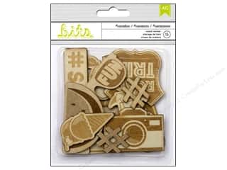 Summer Fun: American Crafts Wood Veneer Shapes 15 pc. #Summer Vacation