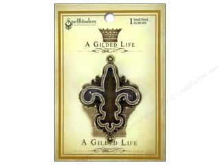 Weekly Specials Scrapbooking Organizers: Spellbinders Bezel Gilded Life Fleur Small Antique Gold