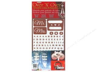 Armour Over 'N' Over Stencil Reusable Mr. & Mrs.
