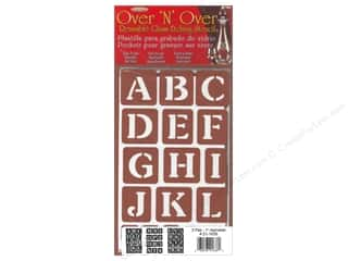 Armour Over 'N' Over Stencil Alphabet 1 in.