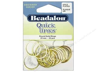 Jump Rings / Spring Rings: Beadalon Quick Links Round 20 mm Gold 22 pc.