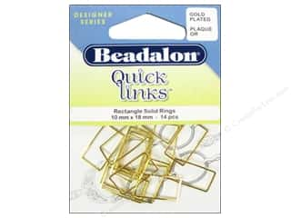 Beadalon Quick Links Rectangle 10 x 18 mm Gold Plated 14 pc.