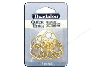 beading & jewelry making supplies: Beadalon Quick Links Diamond Cut Heart 19 x 21 mm Gold Plated 14 pc.
