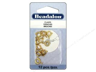 beading & jewelry making supplies: Beadalon Spring Ring Clasps 7 mm Gold 12 pc.