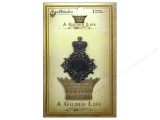 Weekly Specials Perler Beads: Spellbinders Pendant Gilded Life Royal Medallion Antique Silver
