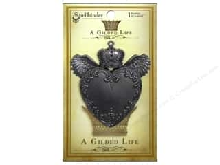 pendants jewelry: Spellbinders Pendant Gilded Life Love Wings Antique Silver