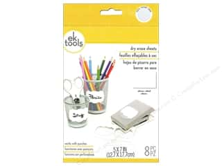 "die cutting machines: EK Sheets 5""x 7"" Dry Erase"