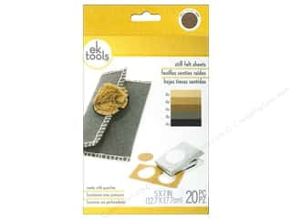 "die cutting machines: EK Sheets 5""x 7"" Felt Neutrals"