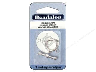 beading & jewelry making supplies: Beadalon Toggle Clasps 16.8 mm Large 1 pc. Silver