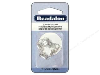 beading & jewelry making supplies: Beadalon Lobster Clasp Two Ring 12 mm Silver 4 pc.