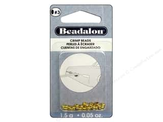 beading & jewelry making supplies: Beadalon Crimp Beads 3 mm Gold .05 oz
