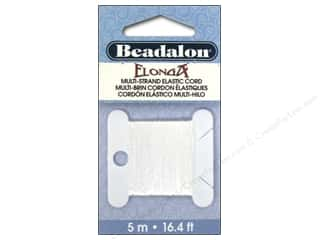beading & jewelry making supplies: Beadalon Cord Elonga Stretchy .30mm 5M