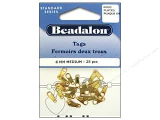 Beadalon Jewelry Tags: Beadalon Jewelry Tags 25 pc. 8 mm Medium Gold Color