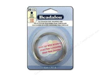 beading & jewelry making supplies: Beadalon 316L Stainless Steel Wrapping Wire Round 20 ga 19.7 ft.