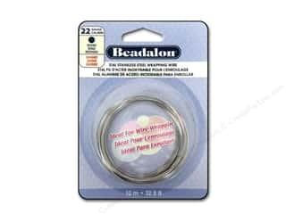 beading & jewelry making supplies: Beadalon 316L Stainless Steel Wrapping Wire Round 22 ga 32.8 ft.