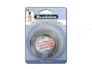 beading & jewelry making supplies: Beadalon 316L Stainless Steel Wrapping Wire Round 26 ga 65.6 ft.