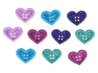 craft & hobbies: Jesse James Dress It Up Embellishments Large Hearts