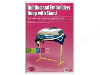 "hoops > quilting hoops: F.A.Edmunds Frame Quilting Hoop Oval 16""x 27"" with Stand"
