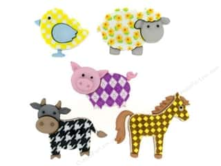 craft & hobbies: Jesse James Dress It Up Embellishments Funky Farm