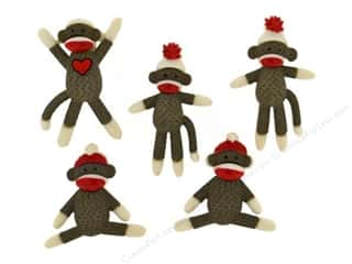 Jesse James Dress It Up Embellishments Sock Monkeys
