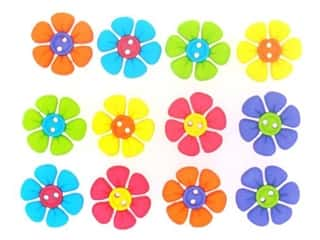 craft & hobbies: Jesse James Embellishments - Sew Cute Button Flowers