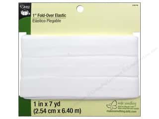 Best of 2013 Dritz Fold Over Elastic: Fold-Over Elastic by Dritz  1 in. x 7 yd. White