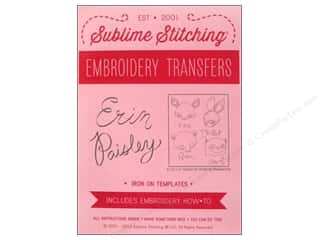 Sublime Stitching: Sublime Stitching Embroidery Transfers Erin Paisley