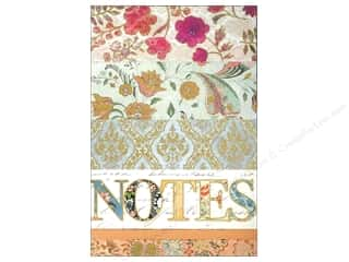 "Cards & Envelopes  4.25"" x 5.5"": Punch Studio Note Pad Large Flip Calico Notes"