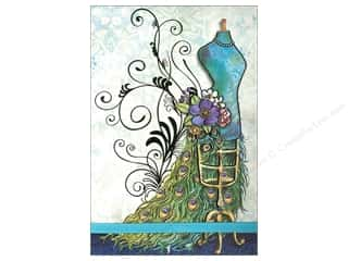 Clearance Punch Studio Decorative Magnet: Punch Studio Note Pad Large Flip Peacock Dressform