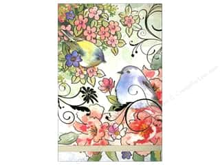 Clearance Punch Studio Decorative Magnet: Punch Studio Note Pad Large Flip Pink Blossom Birds