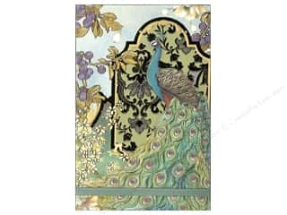 Clearance Punch Studio Decorative Magnet: Punch Studio Note Pad Large Flip Peacocks In The Garden