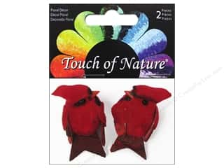 craft & hobbies: Midwest Design Artificial Birds 1 in. Mini Cardinal 2 pc.