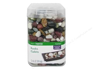 floral & garden: FloraCraft Decorative Rocks 5 lb. Country Mix
