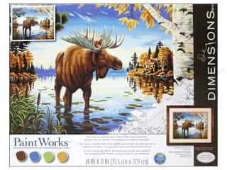 Weekly Specials Paint Brushes: Paintworks Paint By Number Kit 14 x 11 in. Majestic Moose