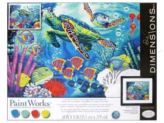Projects & Kits: Paintworks Paint By Number Kit 14 x 11 in. Sea Turtles