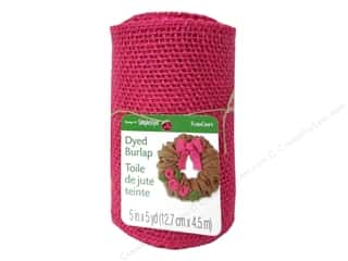 craft & hobbies: FloraCraft Burlap Ribbon 5 in. x 5 yd. Pink