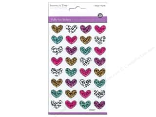 stickers: Multicraft Sticker Puffy Safari Hearts