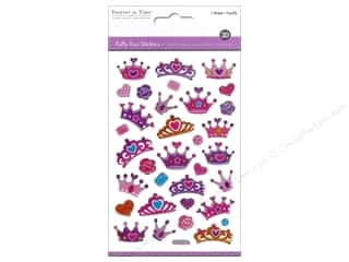 Multicraft Sticker Puffy Glitter Crowns