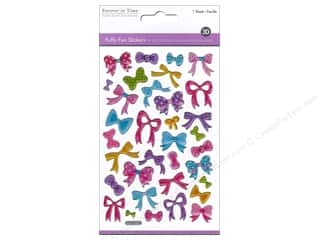 stickers: Multicraft Sticker Puffy Glitter Bows