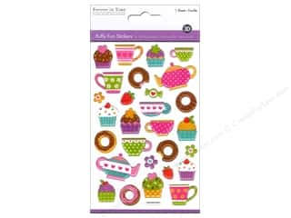 scrapbooking & paper crafts: Multicraft Sticker Puffy Coffee & Dessert