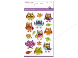 scrapbooking & paper crafts: Multicraft Sticker Puffy Owls
