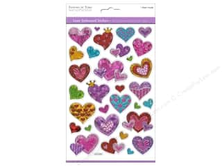 theme stickers: Multicraft Sticker Laser Embossed Hearts